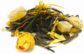 An exotic blend of green, white, and oolong tea with lush mango and fragrant yellow rosebuds creates a fruity and healthful bouquet. A perfect afternoon treat to share with friends. Naturally low in caffeine. Try warm or over ice.
