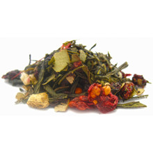 This green and white tea blend combines sweet blackcurrants, pungent hand-ground ginger slices, and tart hibiscus, with Chinese superfruit schizandra - offering a subtle clovey, peppery finish.