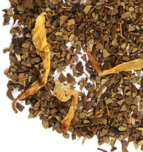 The mellow chicory-like character of our Brazilian toasted mate is a perfect platform for a favorite indulgence - chocolate! Add a bit of hazelnut and you have the perfect treat. Great straight up or enhanced with cream and sugar this mate chocolate hazelnut is sure to entice your taste buds.   Mocha Nut Mate is an herbal beverage from Argentina that contains caffeine.