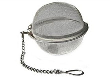 "Made of stainless steel for long-lasting use 2"" diameter Holds loose-leaf tea Promotes maximum flavor extraction Classic, easy-to-use design Includes a chain for easy release Can hook onto cup handles Less waste than tea bags"