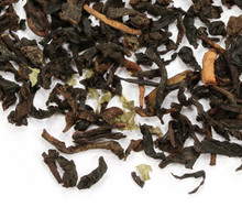 Black tea from Ceylon, decaffeinated using a superior CO-2 process. The latter is all natural and gentle, allowing tea leaves retain their delicate shape and flavor. Flavored with summer strawberries. Makes a tasty cup of tea, both hot and iced.
