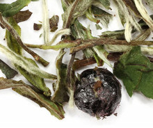 Premium white tea from Fujian region of China flavored with sweet blueberries. A wonderfully smooth and subtle treat, delectable both hot and cold. If you are beginning your exploration of white tea, our blueberry tea will serve a wonderful introduction.