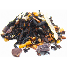 Rich black tea is joined by cocoa beans, toasted coconut and organic honeybush for a decadent treat. Try with steamed milk and sweetener for a deliciously warming cup.
