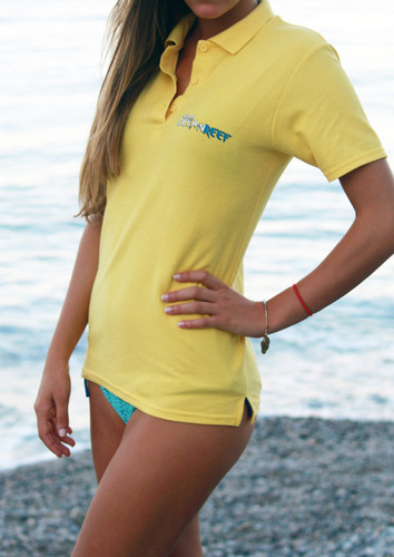 WOMEN'S YELLOW TEAM OCEANREEF POLO