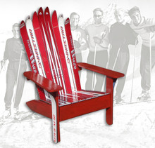 Santa Would Even Love To Have This Beautiful Red Adirondack Sittinu0027 In  Front Of His. Quick View. Adirondack Style Ski Chair