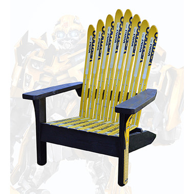 Home · Ski Furniture; Adirondack Style Ski Chair. Image 1