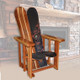 Mission Style Snowboard Chair