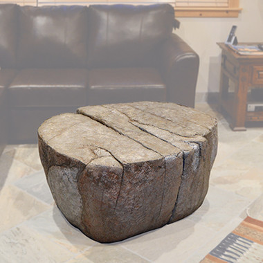 Faux Granite Boulder Coffee Table, Forest Furniture Tahoe