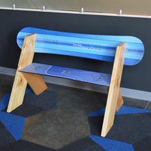 A creative extension on the classic Leopold design using snowboards. Sturdy and attractive, beautiful indoors and outdoors.