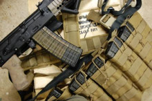 Customer submiited photo of his AK 47 with a strikehard Chest rig