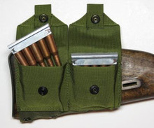 Rugged Mosin Nagant buttstock pouch carries 2 stripper clips