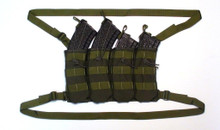 The Strike Hard Gear AK 47 Molle Shingle accomodates both 30 and 40 round magazines
