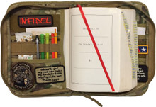 This rugged camouflage bible case protects your bible and organizes your bible study materials