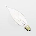 Satco 15CA8 15W Turn-Tip Chandelier Candelabra Light Bulb (Box of 25)
