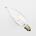 Satco 15CA8 15W 130V Turn-Tip Clear Chandelier Candelabra Light Bulb (Box of 25)