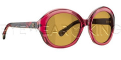 New Authentic Balenciaga Clear Burgundy Sunglasses Frame BAL 0123 04M Angle-1 | Eyewearking.com