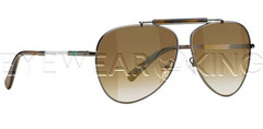 New Authentic Balenciaga Ruthenium Brown Aviator Sunglasses Frame BAL 0151 PE8 Angle-1 | Eyewearking.com