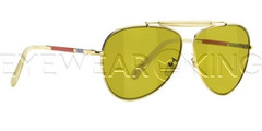 New Authentic Balenciaga Yellow Gold Aviator Sunglasses Frame BAL 0151 PE9 Angle-1 | Eyewearking.com