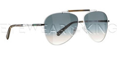 New Authentic Balenciaga White Aviator Sunglasses Frame BAL 0151 PEM Angle-1 | Eyewearking.com