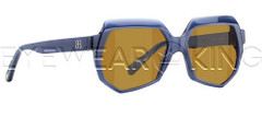 New Authentic Balenciaga Dark Blue Sunglasses Frame BAL 0105 M23 Angle-1 | Eyewearking.com