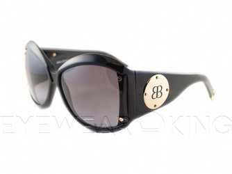 New Authentic Balenciaga Shiny Black Sunglasses Frame BAL 0015 807 Angle-1 | Eyewearking.com