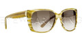 New Authentic Balenciaga Light Horn Yellow Sunglasses Frame BAL 0081 7Q1 Angle-1 | Eyewearking.com