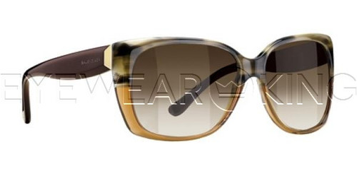 New Authentic Balenciaga Brown Horn Olive Sunglasses Frame BAL 0081 ITC Angle-1 | Eyewearking.com