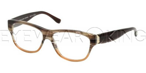 New Authentic Balenciaga Cream Brown Horn Eyeglasses Frame BAL 0075 ITC Angle-1 | Eyewearking.com