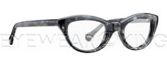 New Authentic Balenciaga Blue Grey Marble Eyeglasses Frame BAL 0115 V9U Angle-1 | Eyewearking.com