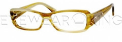 New Authentic Balenciaga Yellow Horn Eyeglasses Frame BAL 0078 7Q1 Angle-1 | Eyewearking.com
