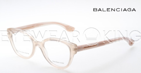 New Authentic Balenciaga Light Beige Eyeglasses Frame BAL 0114 V9E Angle-1 | Eyewearking.com