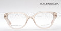 New Authentic Balenciaga Light Beige Eyeglasses Frame BAL 0114 V9E Angle-2 | Eyewearking.com
