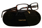 New Authentic Tom Ford Dark Tortoise Eyeglasses Frame TF 5185 052 Angle-1 | Eyewearking.com