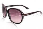 New Authentic Tom Ford Purple Sunglasses Frame TF 186 Sheila 83Z Angle-1 | Eyewearking.com