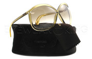 New Authentic Tom Ford Champagne Sunglasses Frame TF 201 Charlie 98P Angle-1 | Eyewearking.com