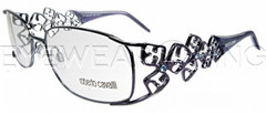 New Authentic Roberto Cavalli Shiny Light Blue Eyeglasses Frame RC 0347 297 Angle-1 | Eyewearking.com