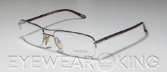 New Authentic Tom Ford FT 5053 (512) Shiny Silver Eyeglasses