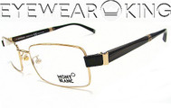 New Authentic Shiny Gold Eyeglasses Frame Mont Blanc MB 244 032 Angle-1 | Eyewearking.com