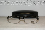 New Authentic Havana Gunmetal Eyeglasses Frame Mont Blanc MB 308 052 Angle-1 | Eyewearking.com