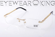 New Authentic Shiny Gold Eyeglasses Frame Mont Blanc MB 247 028 Angle-1 | Eyewearking.com