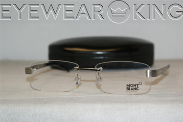 New Authentic Shiny Silver Eyeglasses Frame Mont Blanc MB 305 018 Angle-1 | Eyewearking.com