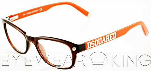 New Authentic Brown & Orange Eyeglasses Frame DSquared2 DQ 5006 045 Angle-1 | Eyewearking.com