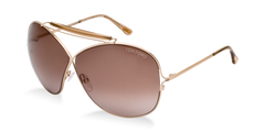New Authentic Shiny Light Gold/Brown Sunglasses Frame Tom Ford TF 0200 34B Angle-1 | Eyewearking.com