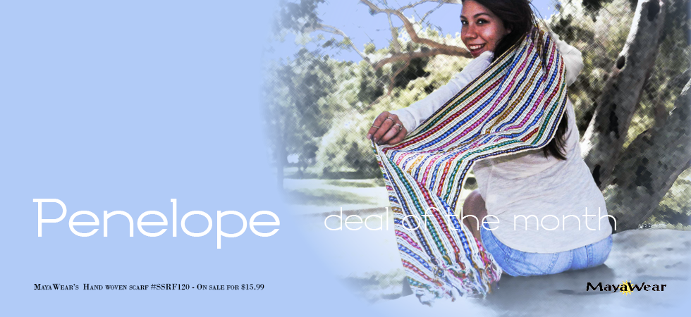 Penelope Hand Woven Scarf on Sale Now!