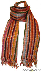 "SSRF112 - ""Acacia"" Scarf w/Fringe. 100% Cotton. Made in Guatemala. https://www.mayawear.com"
