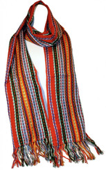 "SSRF116 - ""Freedom"" Scarf w/Fringe. 100% Cotton. Made in Guatemala. https://www.mayawear.com"