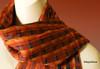 "SSRF138 - ""Red Hot Salsa"" Scarf w/ Fringe. 100% Cotton. Made in Guatemala. https://www.mayawear.com"