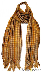 SSRF139 - Sahara Scarf w/Fringe - 100% Cotton. Made in Guatemala. https://www.mayawear.com