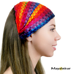 "BAND132 - ""Circus Rainbow"" Bandana. 100% Cotton. Made in Guatemala."