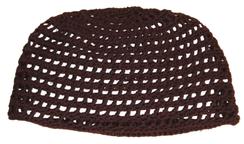 Brown Open Knit Beanie